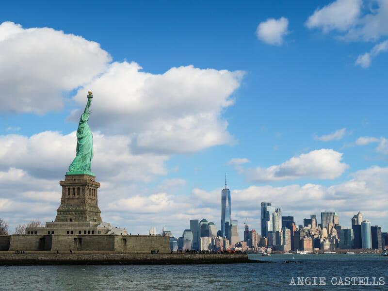 Las vistas desde el ferry de la Estatua de la Libertad