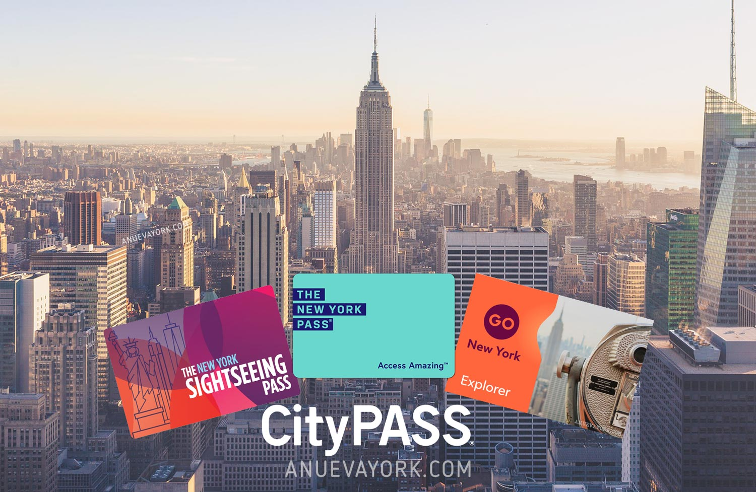 Comparativa de tarjetas turisticas de Nueva York - Diferencias CityPass, New York Pass, Sightseeing Pass y Go New York
