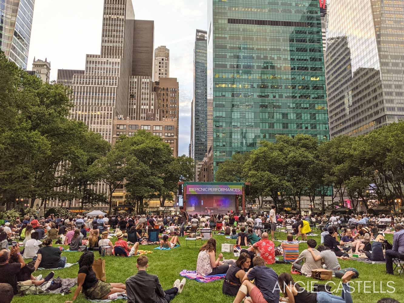 Consejos para preparar un viaje a Nueva York - Bryant Park en verano