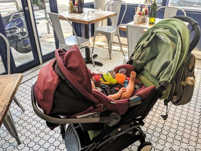Carrito y silla de coche para viajar a Nueva York con un bebé
