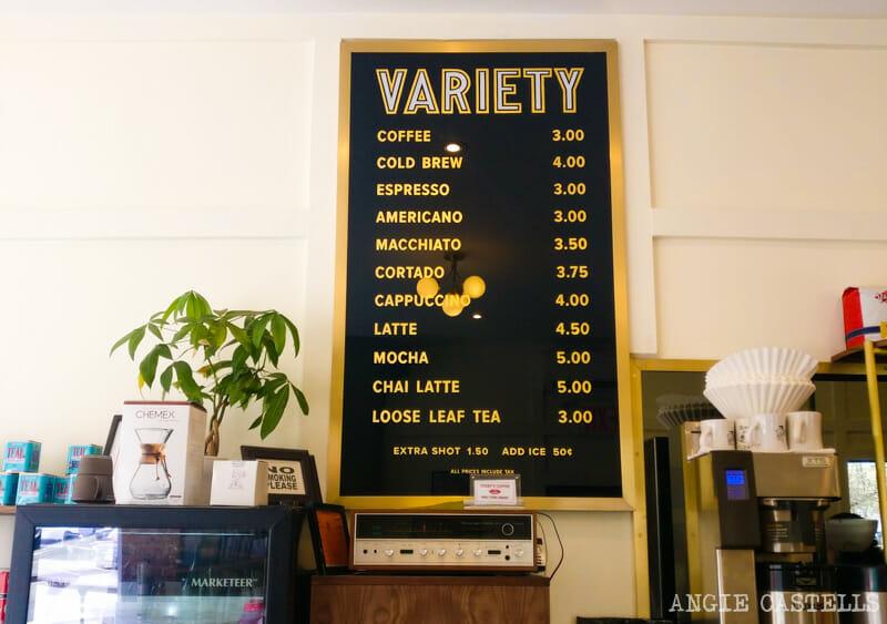 Cuánto cuesta un café en Nueva York - Carta de precios