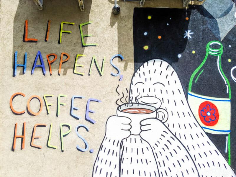 Cafeterías de Nueva York - Grafiti de Frank Ape