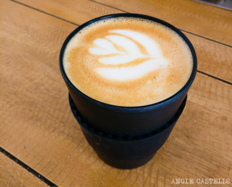 Un café latte en Nueva York