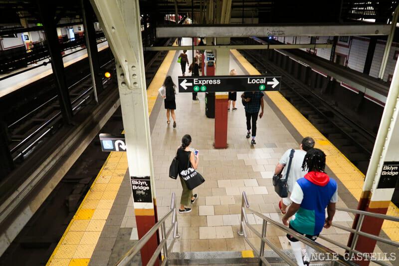 Una estación del metro de Nueva York