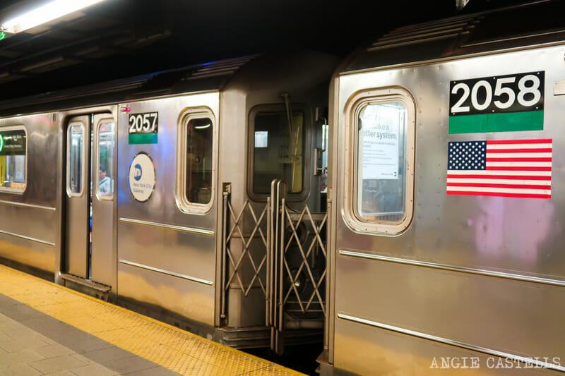 Los vagones del metro de Nueva York