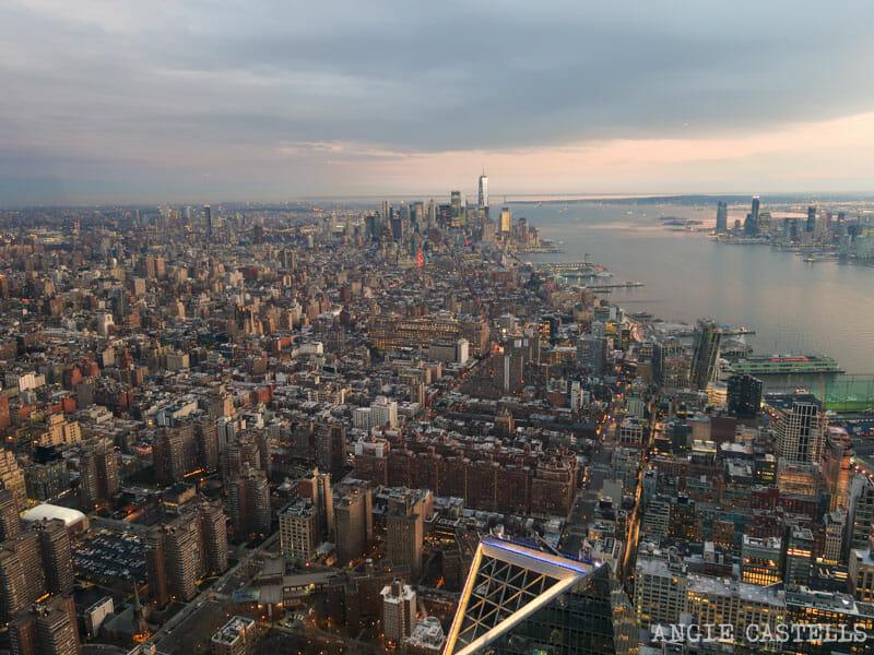 Las vistas de Nueva York desde el Edge, en Hudson Yards