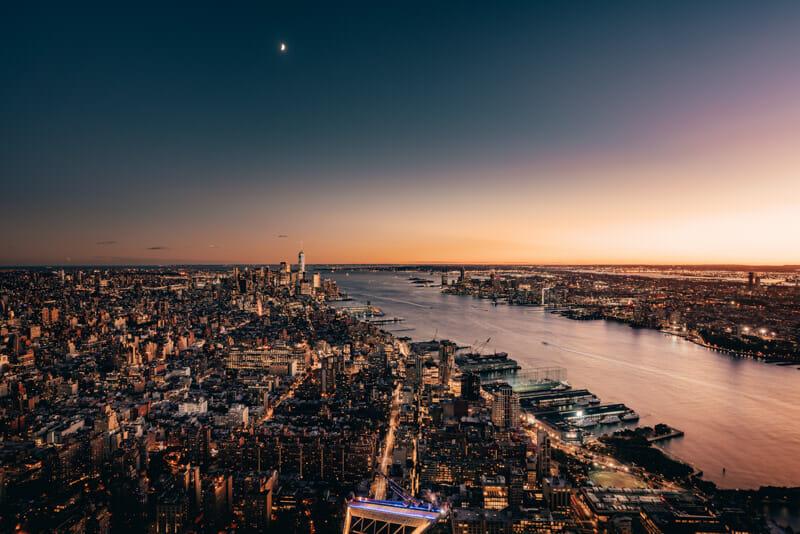 Vistas desde el Edge, el nuevo observatorio de Hudson Yards