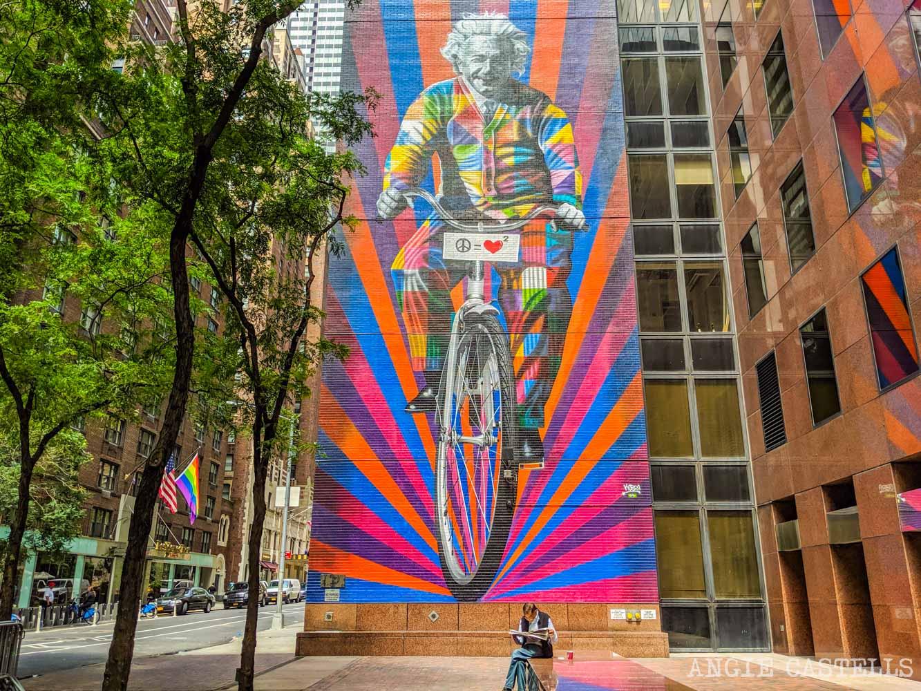 Los murales de Kobra en Nueva York - Einstein en Midtown