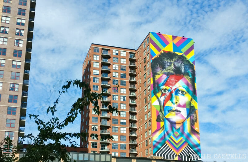 Los murales de Kobra en Nueva York - David Bowie Ziggy Stardust en Jersey