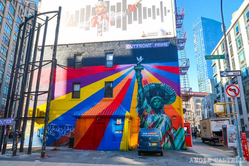 Los murales de Kobra en Nueva York - Estatua de la Libertad en SoHo