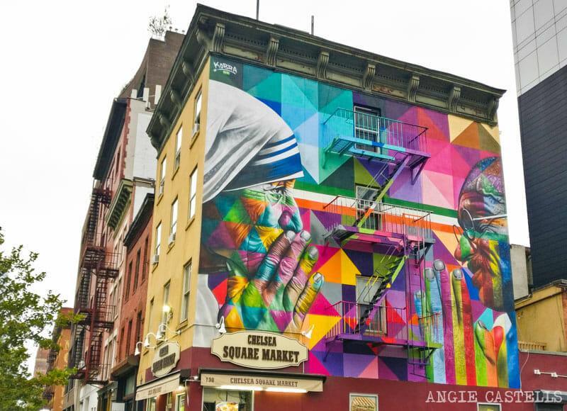 Los murales de Kobra en Nueva York - Madre Teresa y Gandhi en Chelsea