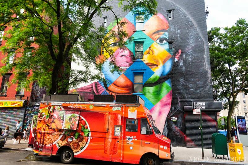 Los murales de Kobra en Nueva York - Michael Jackson en el East Village