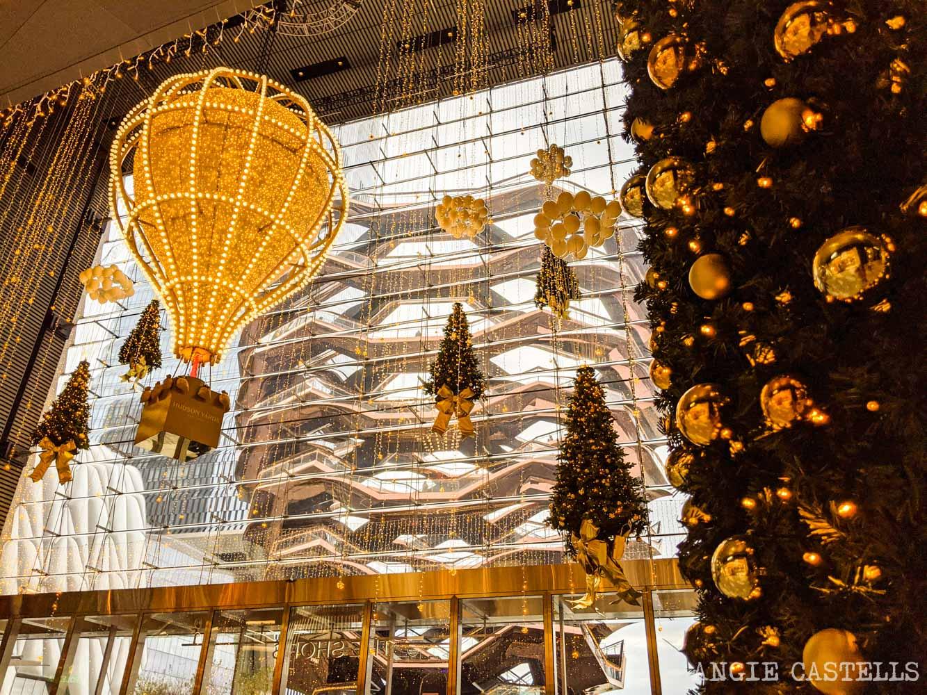 Decoración de Navidad de Hudson Yards Nueva York
