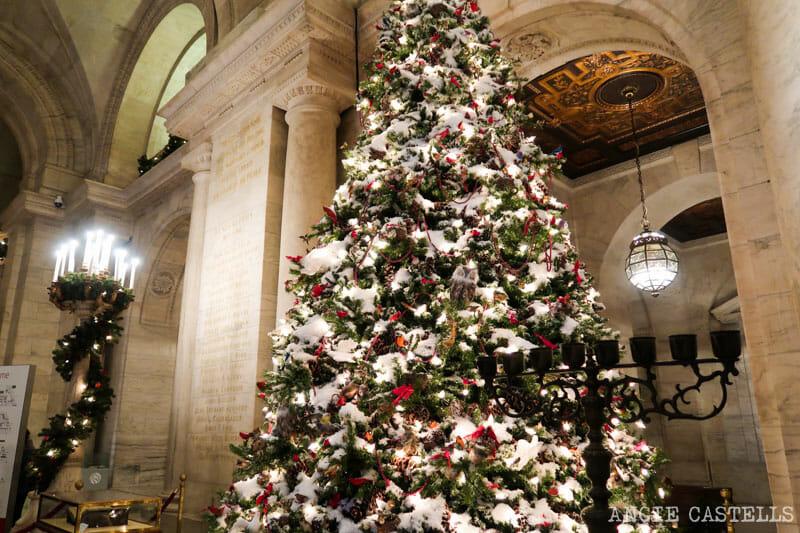 Los árboles de Navidad mas bonitos de Nueva York - New York Public Library