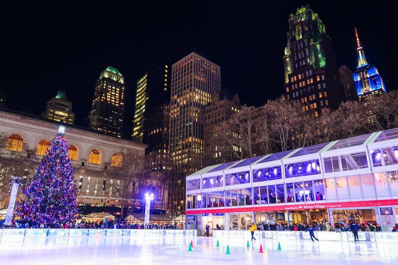 Los árboles de Navidad mas bonitos de Nueva York - Bryant Park