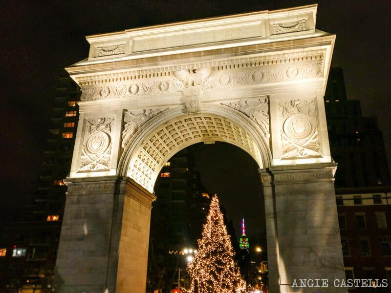 Los árboles de Navidad mas bonitos de Nueva York - Washington Square