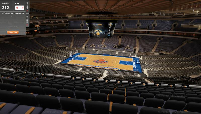 Cómo comprar entradas para los Knicks - Secciones Madison Square Garden