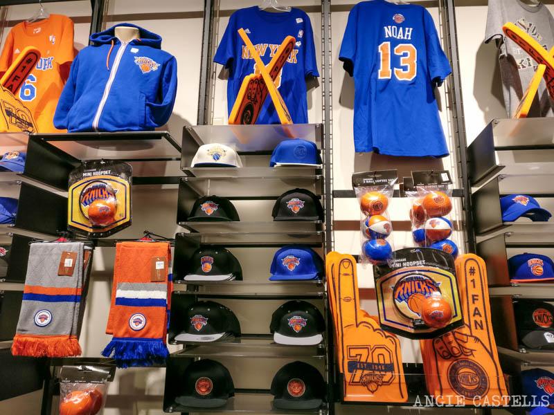 Merchandising de los Knicks en el Madison Square Garden