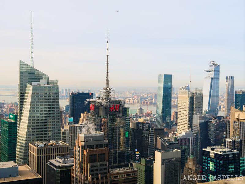 Times Square y Hudson Yards desde el Top of the Rock