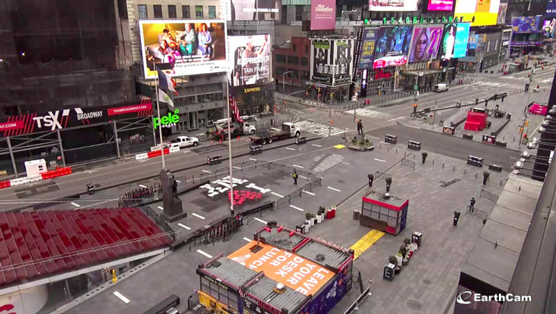Coronavirus en Nueva York - Times Square vacío