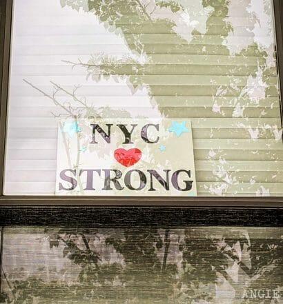 Mensaje de ánimo durante el coronavirus en Nueva York