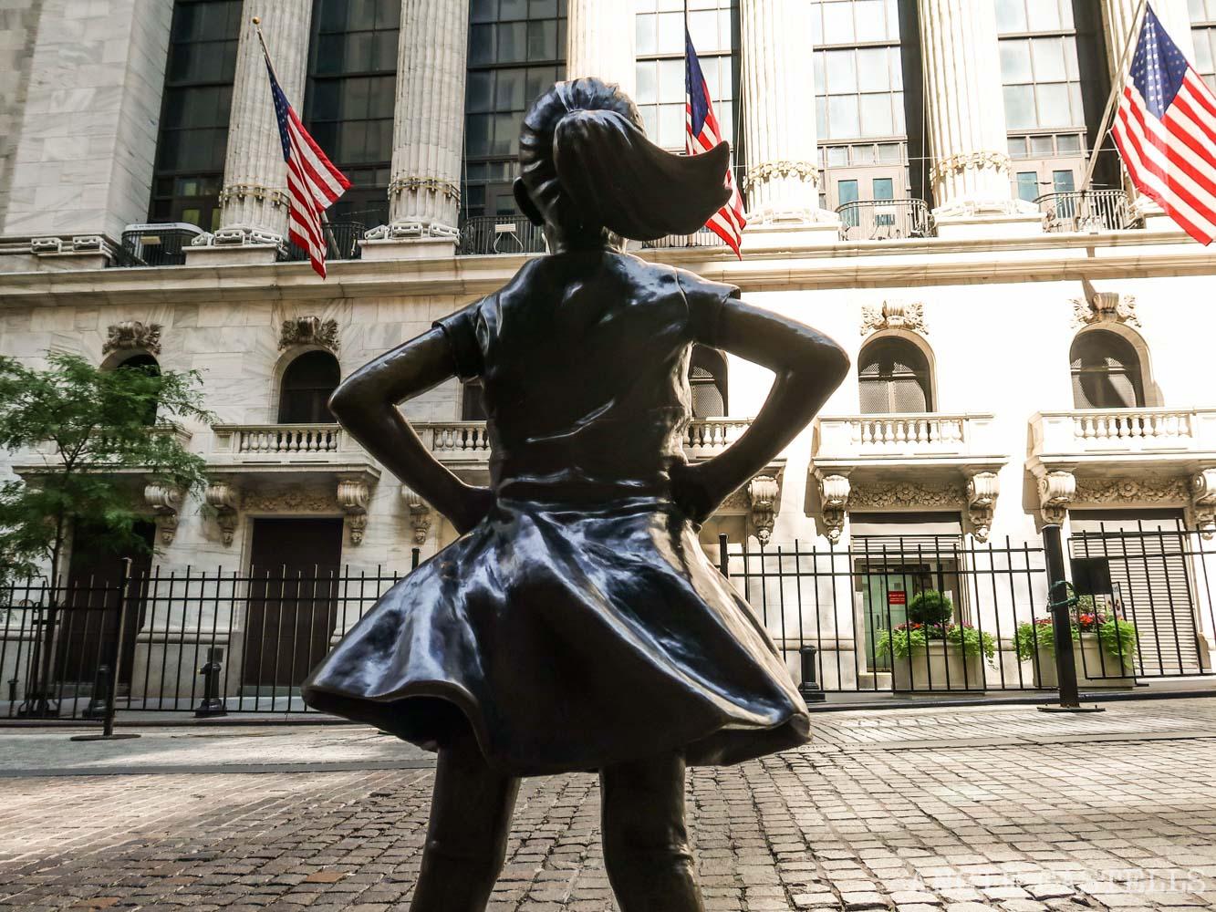 Dónde esta la Fearless Girl y el Toro de Wall St, en Nueva York