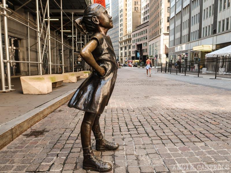 La escultura Fearless Girl, la niña sin miedo de Nueva York
