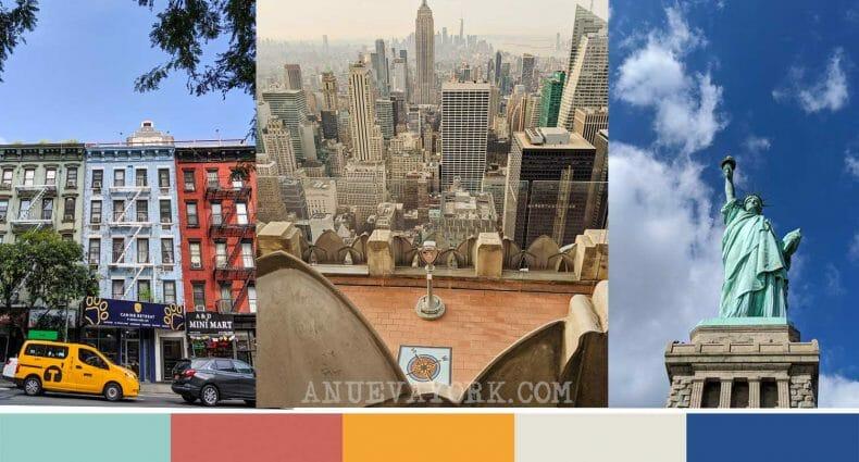 Paleta de colores de Nueva York