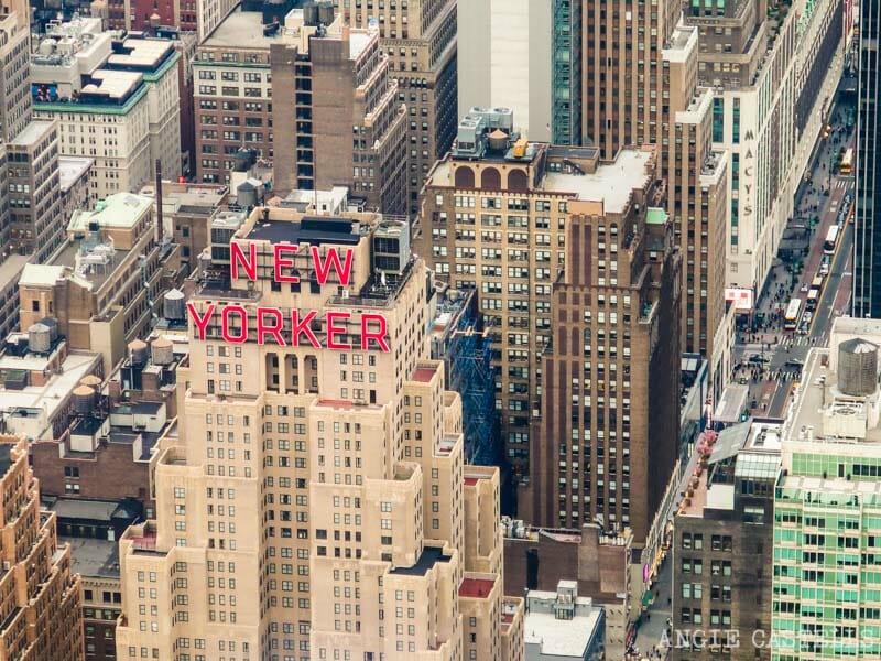 Los depósitos de agua de Nueva York en el hotel New Yorker
