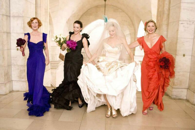 Escenarios de Sexo en Nueva York - La boda de Carrie y Big en la New York Public Library