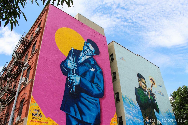 Lugares para conocer la historia negra de Nueva York - Mural en el Harlem