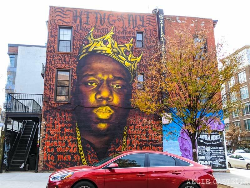 El mural de Notorious Big, Biggie Smalls, en Nueva York