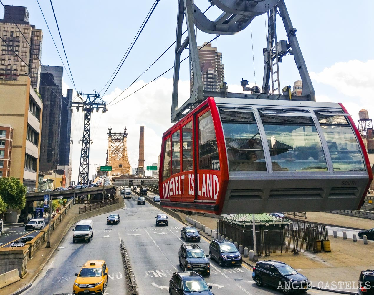 Subir al teleférico de Roosevelt Island Nueva York