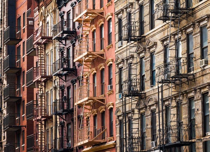 Guía de Nueva York - Inicio - Escaleras de incendio