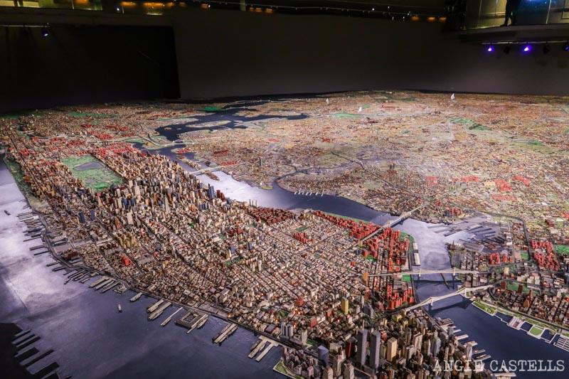 El Panorama of the City of New York, la maqueta del museo de Queens