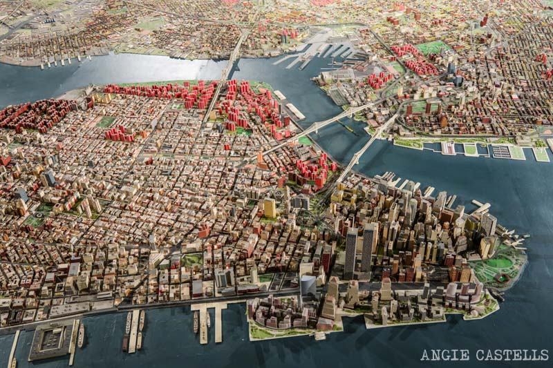 La maqueta de Manhattan en el museo de Queens