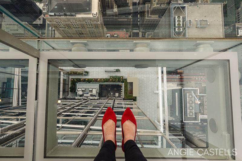 Ascensor de cristal en el mirador Summit de Nueva York