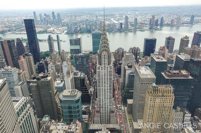 Las vistas del Chrysler Building desde el observatorio Summit de Nueva York