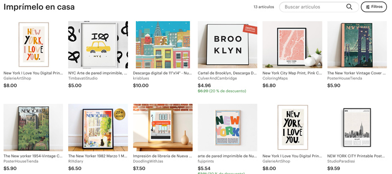 Comprar ilustraciones de Nueva York para imprimir en casa