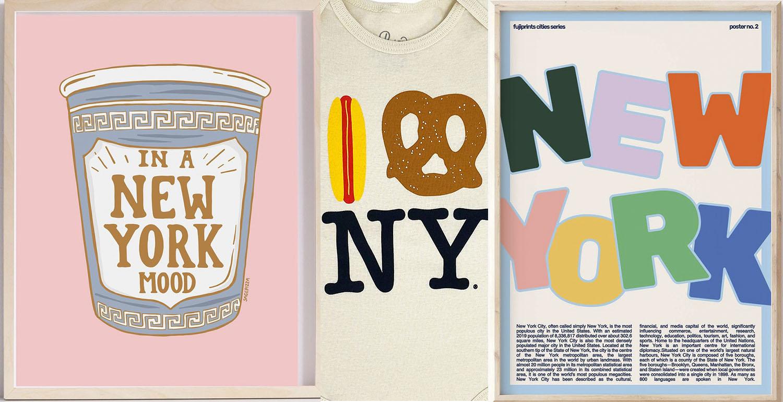 Los mejores regalos de Nueva York - Ilustraciones, mapas, entradas