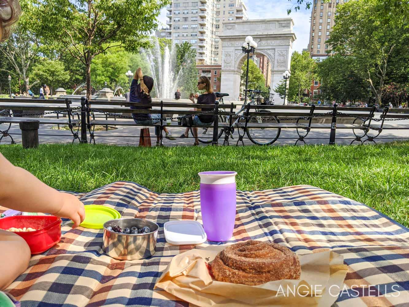Qué hacer en Nueva York con ninos - Picnic en Washington Square