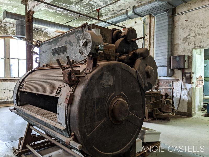 La lavanderia del hospital abandonado de Ellis Island