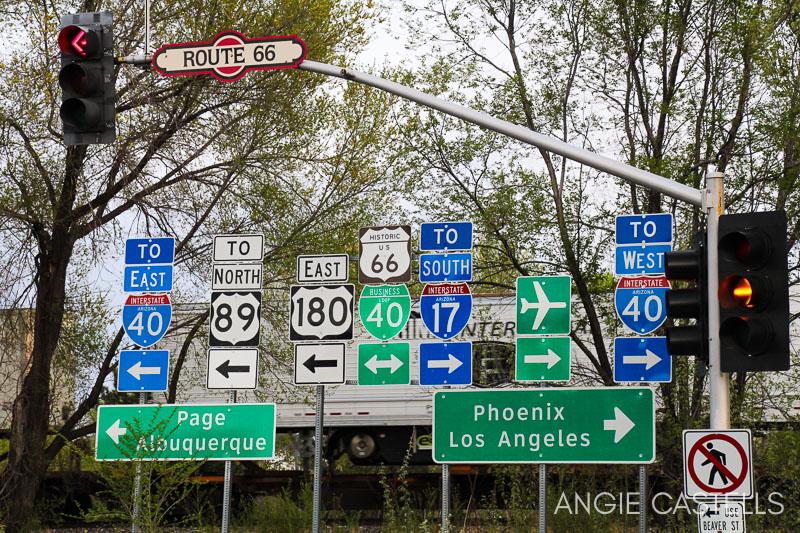 Carreteras en Estados Unidos - Señales en Arizona