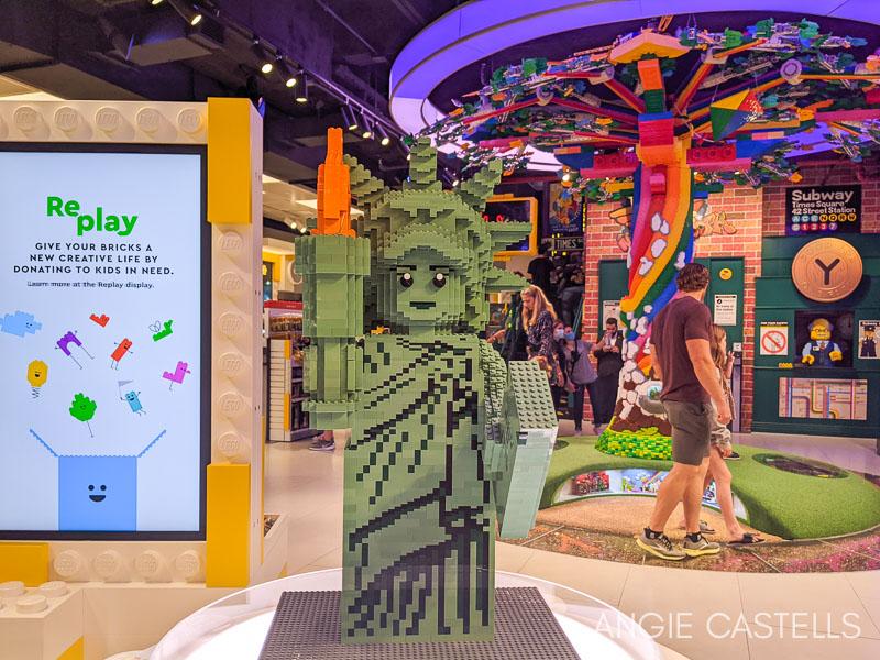 Visitar la tienda Lego de Nueva York - Estatua de la Libertad