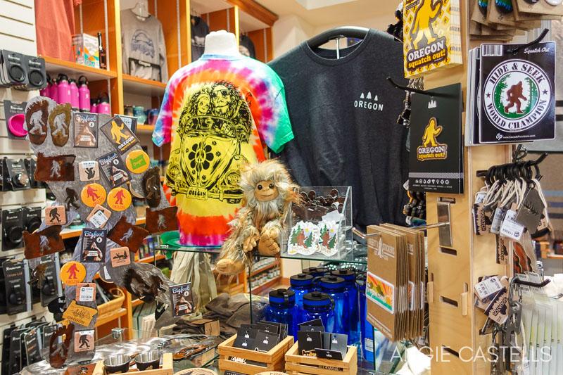 Ruta por Oregon - Souvenirs en una tienda de Newport