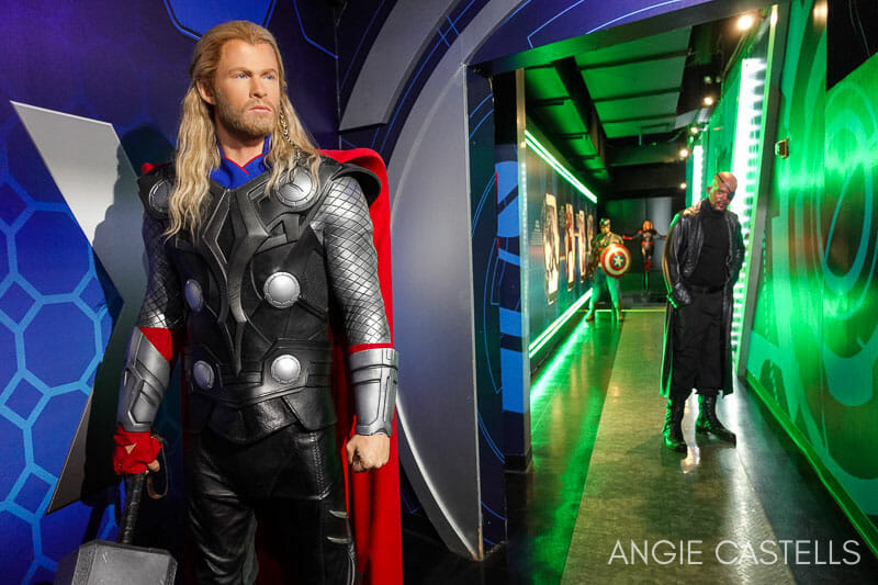 Superheroes de Marvel en el museo Madame Tussauds de Nueva York